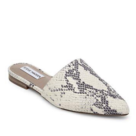 92be0bf1db5 Steve Madden Trace-p mules snakeskin size 9.5. M 5c087eeadf030798a9e5ac6c